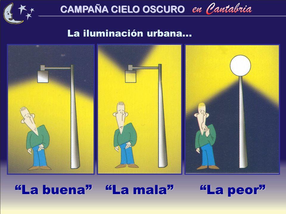 CAMPAÑA CIELO OSCURO La iluminación urbana... La buena La mala La peor