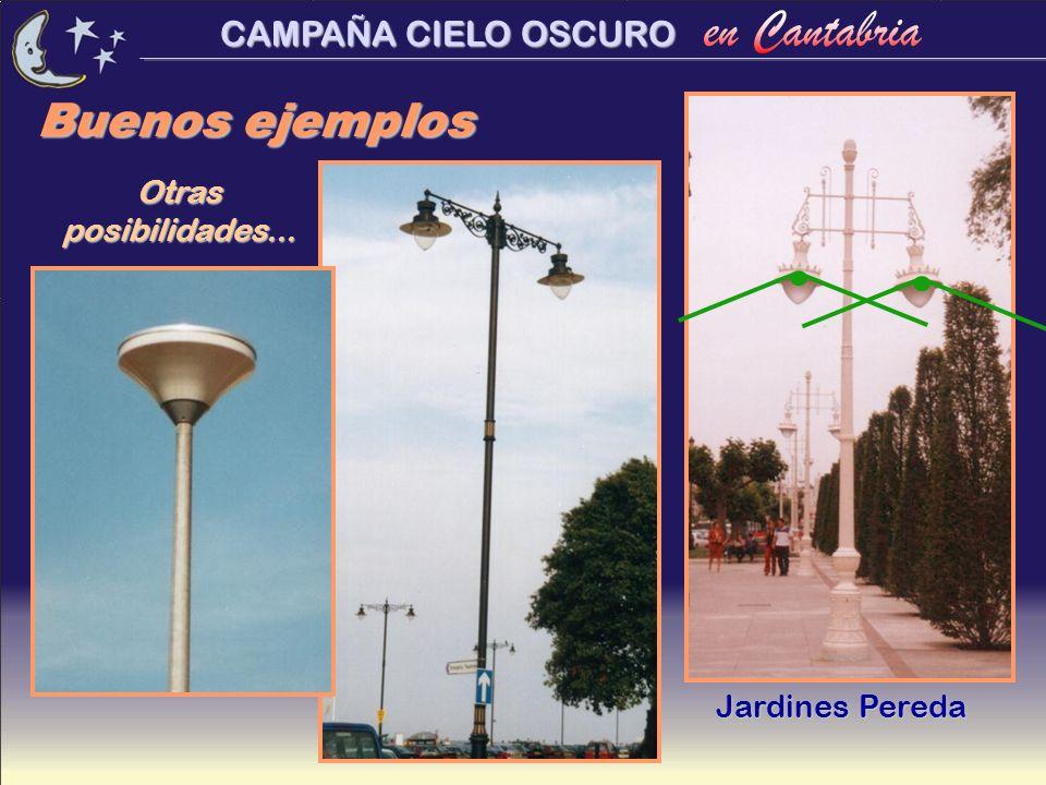 CAMPAÑA CIELO OSCURO Buenos ejemplos Jardines Pereda Otras posibilidades...