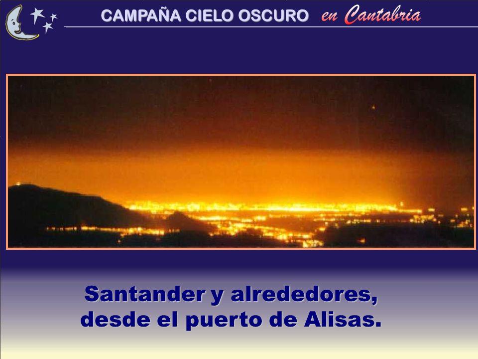 CAMPAÑA CIELO OSCURO Santander desde una calle céntrica.... y sin ninguna estrella.