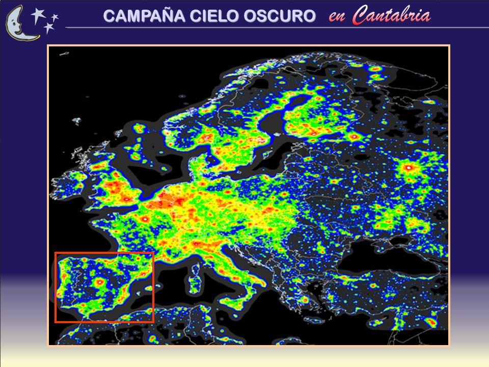 CAMPAÑA CIELO OSCURO Veamos algunos ejemplos de iluminación en Cantabria...