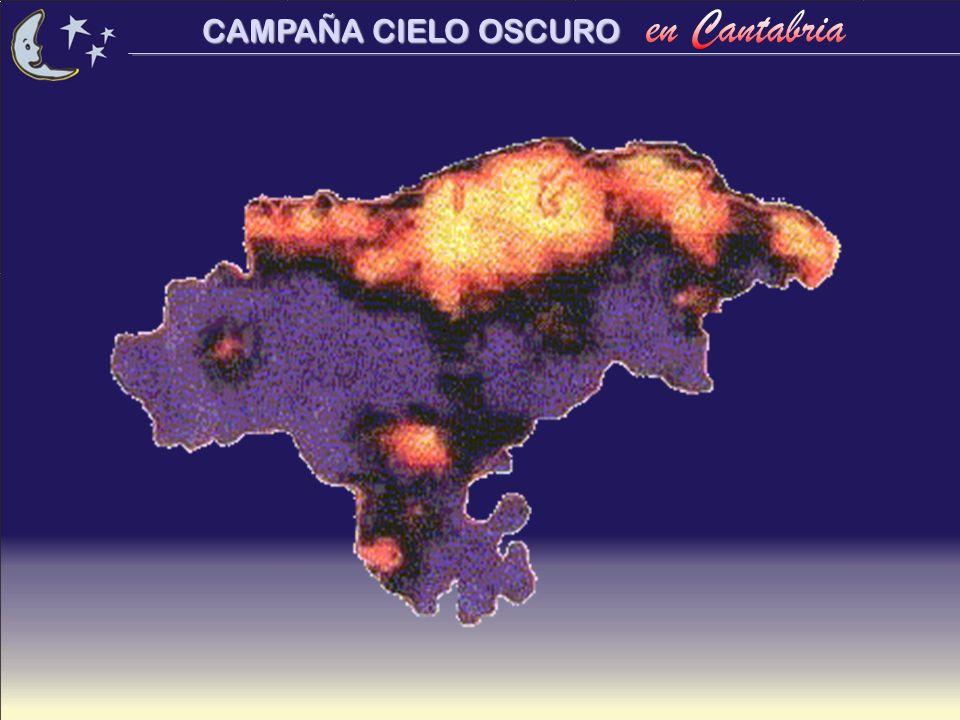 CONSECUENCIAS de la contaminación lumínica...Pérdida de visión del cielo estrellado.
