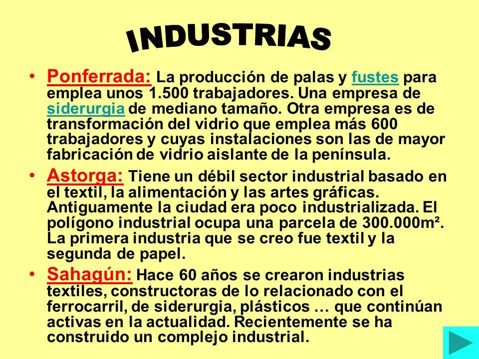 Ponferrada: La producción de palas y fustes para emplea unos 1.500 trabajadores.