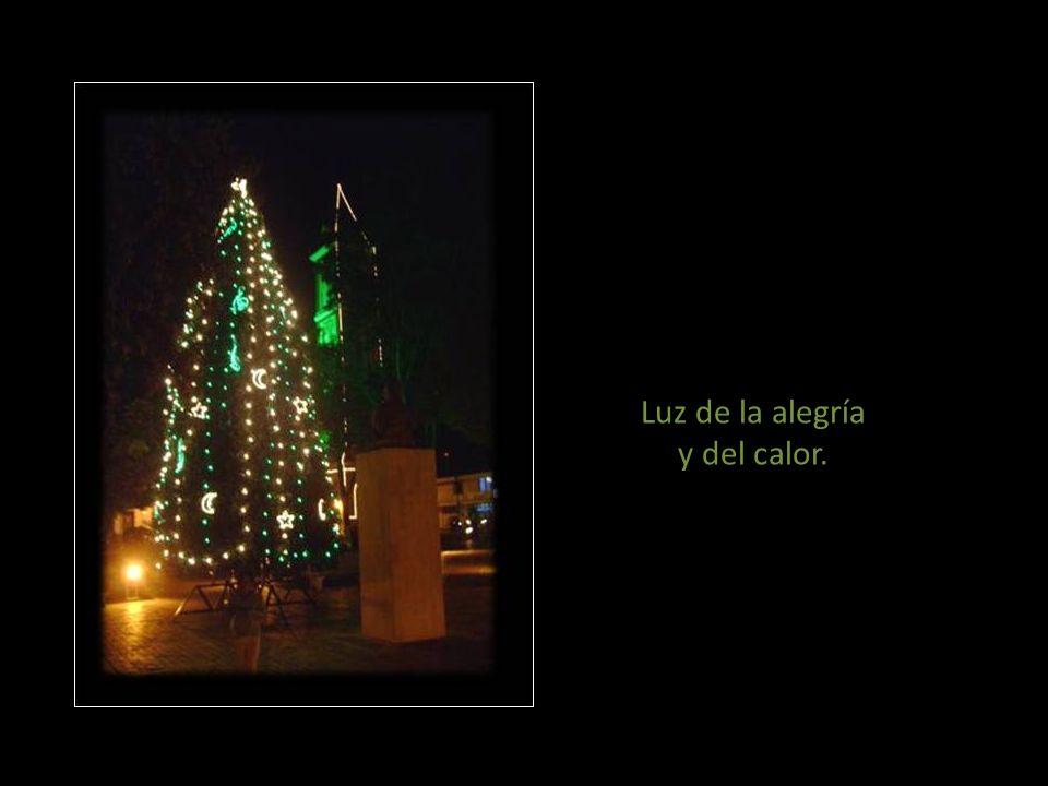 Luz de la esperanza y del sabor. Luz de la amistad y del amor. Luz de la vida y del dolor. Luces de la Navidad Activa el audio