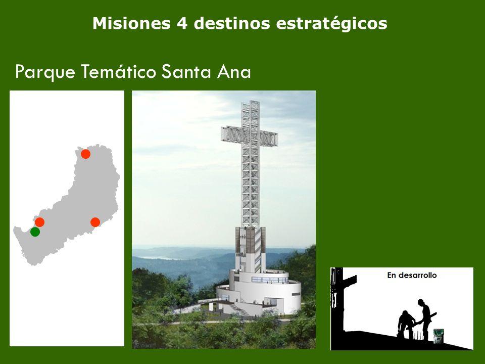 8 Misiones 4 destinos estratégicos Parque Temático Santa Ana