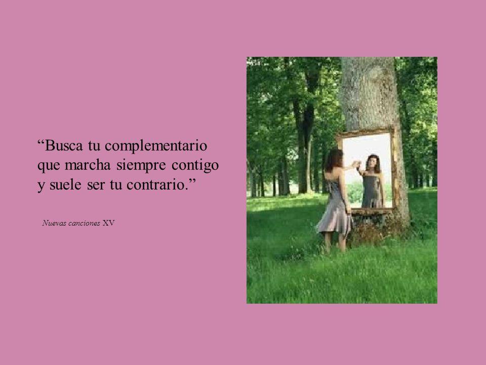Busca tu complementario que marcha siempre contigo y suele ser tu contrario. Nuevas canciones XV