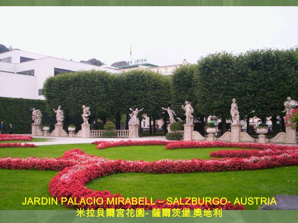 JARDIN PALACIO MIRABELL – SALZBURGO- AUSTRIA -