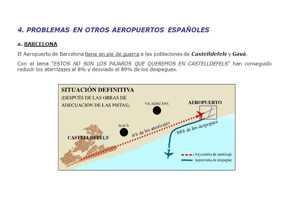 4. PROBLEMAS EN OTROS AEROPUERTOS ESPAÑOLES a.