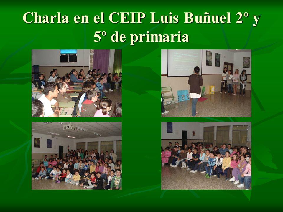 Charla en el CEIP Luis Buñuel 2º y 5º de primaria