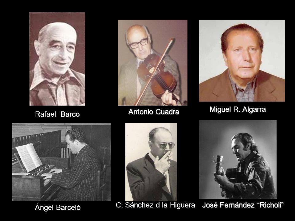 Gaspar Vivas Julián Arcas Ortiz de Villajos José Padilla En recuerdo de algunos famosos y admirados músicos/composito res almerienses que nos precedie