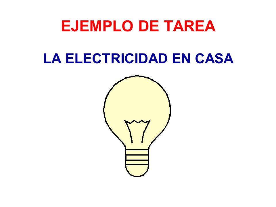 Objetivos de la tarea Adquirir conocimientos básicos de electricidad y funcionamiento de aparatos eléctricos e instalaciones.
