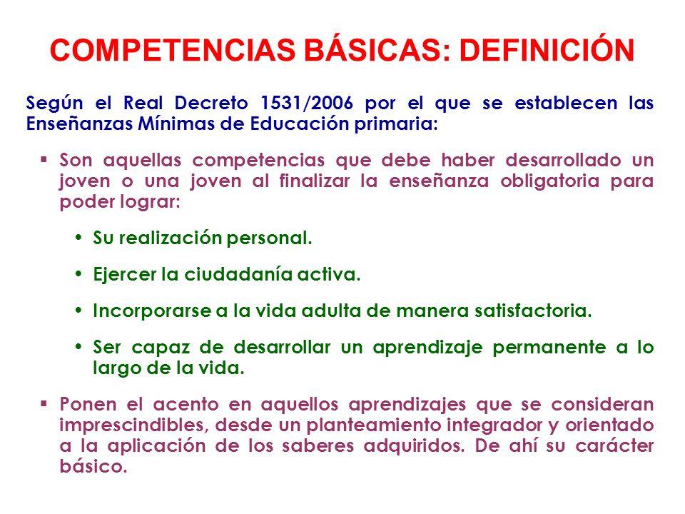 CONCEPTO DE COMPETENCIA Aplicación de conocimientos y otros recursos personales mediante procesos cognitivos y socio-afectivos a situaciones diversas para responder a demandas complejas