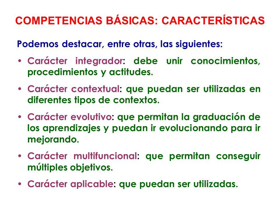 Con las áreas del currículo se pretende que todos los alumn@s alcancen los objetivos educativos y, consecuentemente, también que adquieran las competencias básicas.