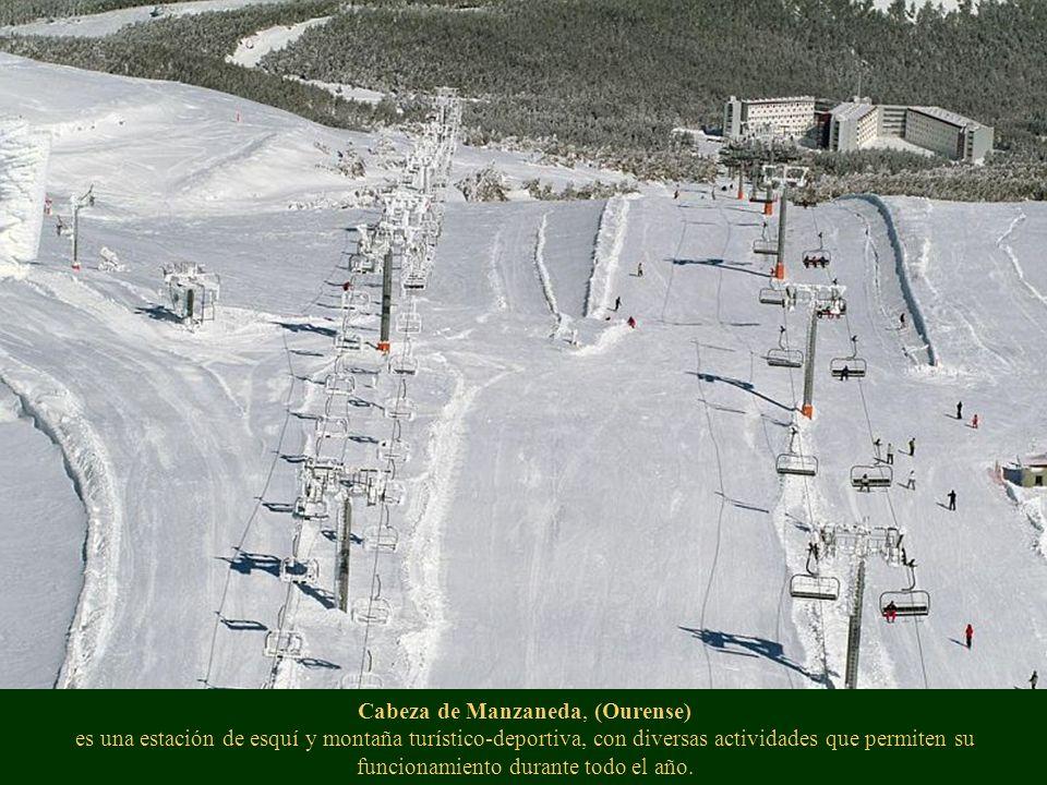Cabeza de Manzaneda, (Ourense) es una estación de esquí y montaña turístico-deportiva, con diversas actividades que permiten su funcionamiento durante