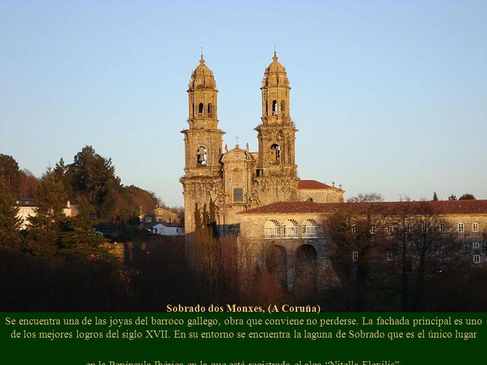 Sobrado dos Monxes, (A Coruña) Se encuentra una de las joyas del barroco gallego, obra que conviene no perderse. La fachada principal es uno de los me