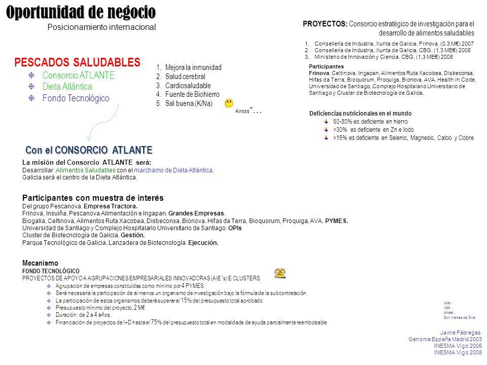 La misión del Consorcio ATLANTE será: Desarrollar Alimentos Saludables con el marchamo de Dieta Atlántica. Galicia será el centro de la Dieta Atlántic