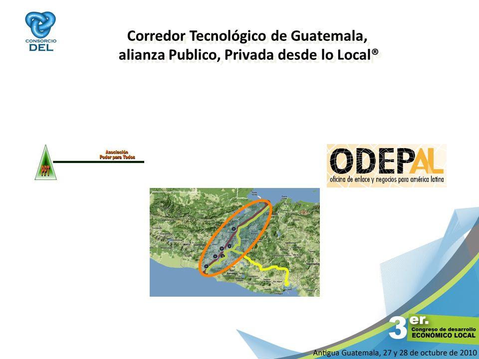 Corredor Tecnológico de Guatemala, alianza Publico, Privada desde lo Local®