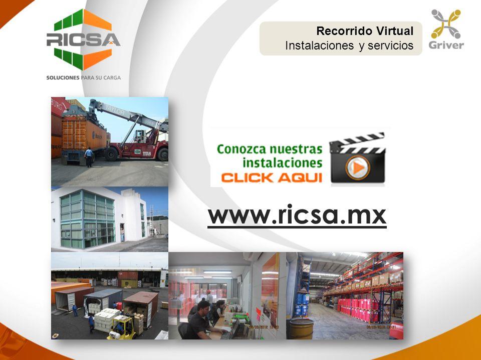 Recorrido Virtual Instalaciones y servicios www.ricsa.mx