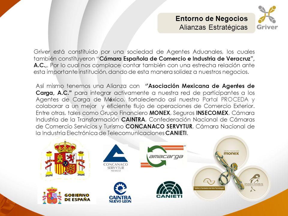 Griver está constituido por una sociedad de Agentes Aduanales, los cuales también constituyeron Cámara Española de Comercio e Industria de Veracruz, A