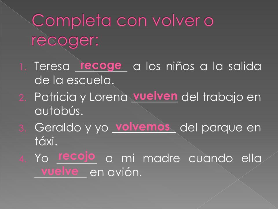 Un verbo conjugado delante del verbo Te presento la señora García.