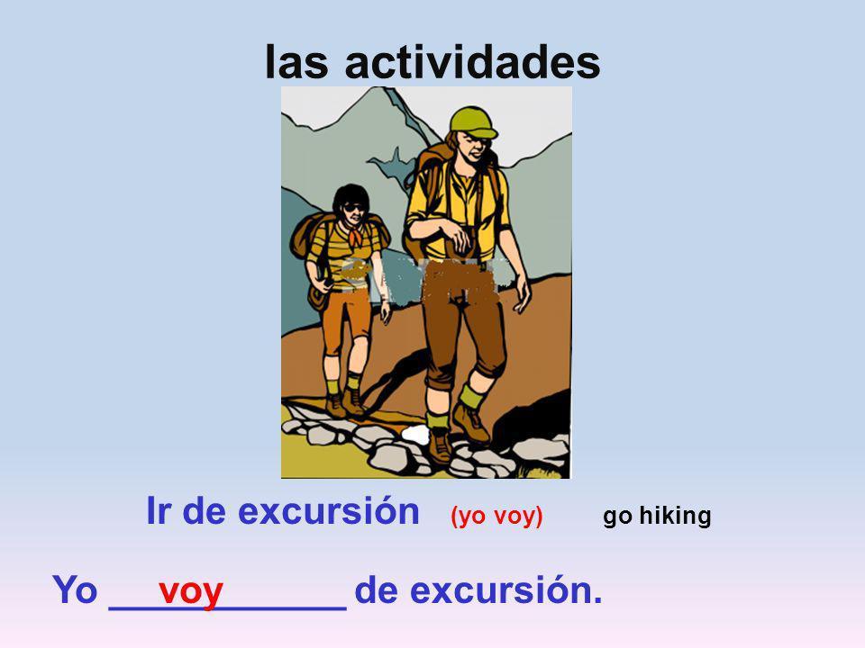 las actividades al aire libre (página 117, ejercicio 3) Cierto o Falso