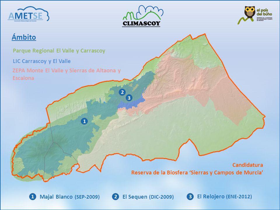Ámbito Parque Regional El Valle y Carrascoy LIC Carrascoy y El Valle ZEPA Monte El Valle y Sierras de Altaona y Escalona Candidatura Reserva de la Bio