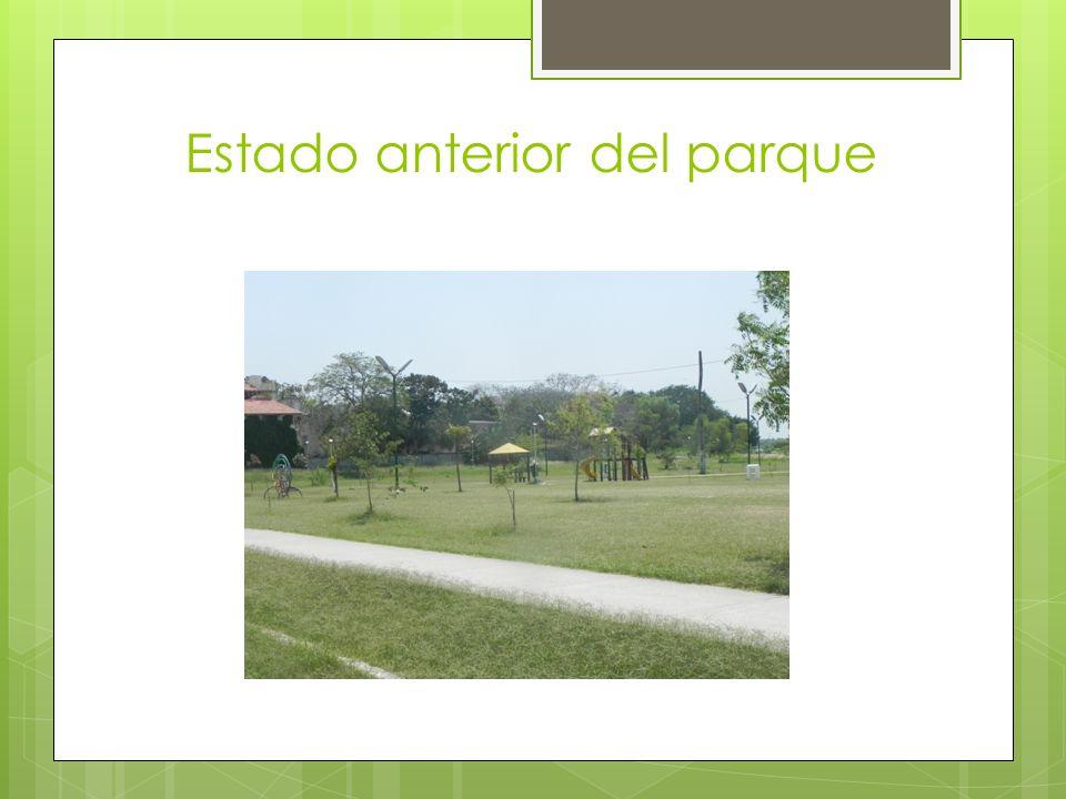 Estado anterior del parque