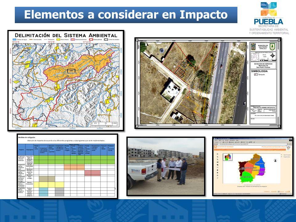 Elementos a considerar en Impacto Ambiental