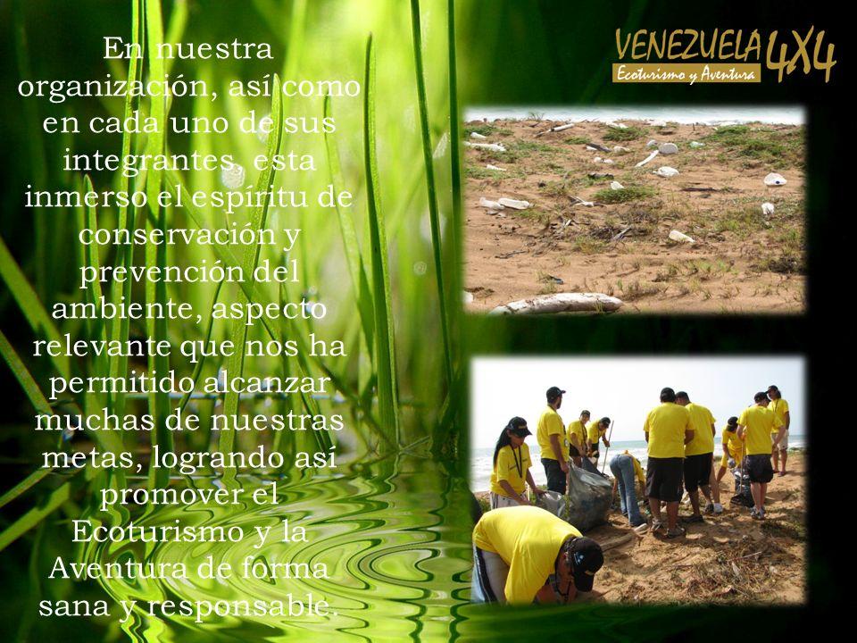En nuestra organización, así como en cada uno de sus integrantes, esta inmerso el espíritu de conservación y prevención del ambiente, aspecto relevant