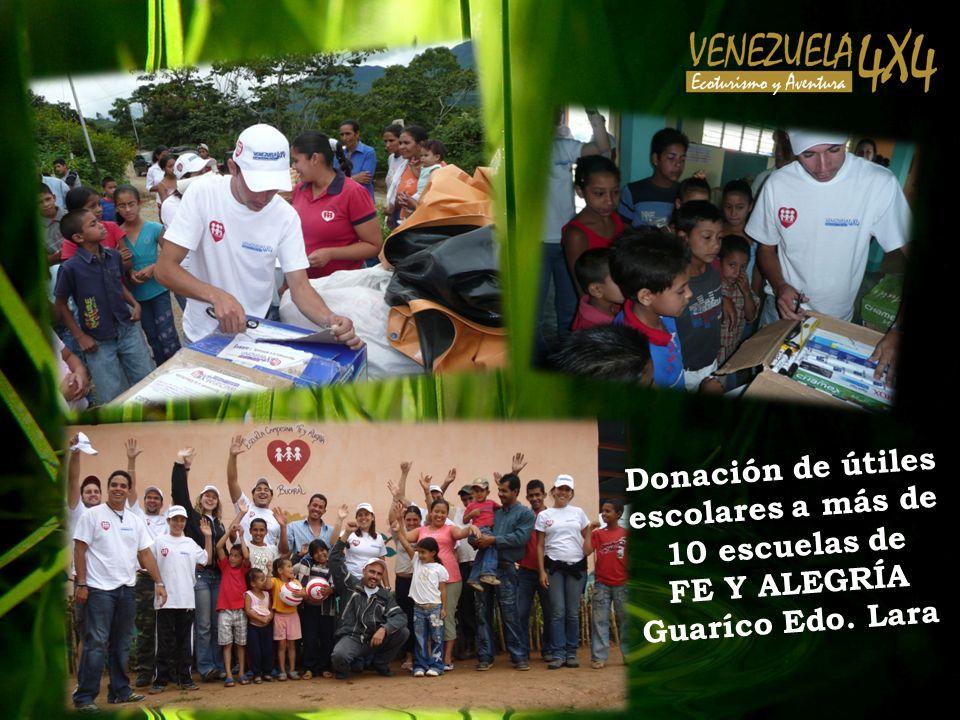 Donación de útiles escolares a más de 10 escuelas de FE Y ALEGRÍA Guaríco Edo. Lara