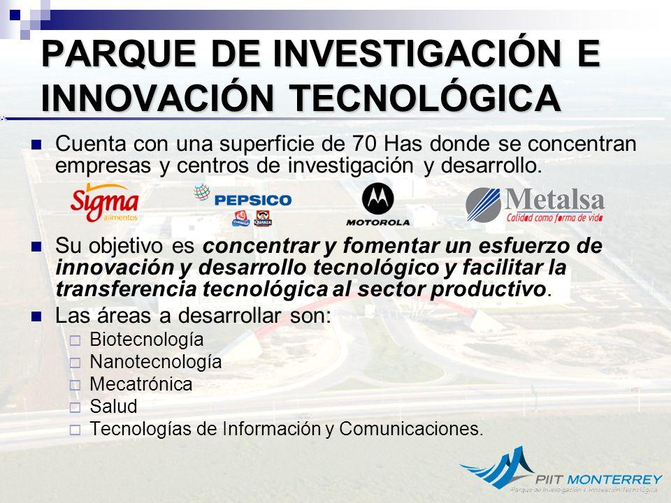 PARQUE DE INVESTIGACIÓN E INNOVACIÓN TECNOLÓGICA (PIIT) Apodaca, N.L Algunos centros de investigación participantes.