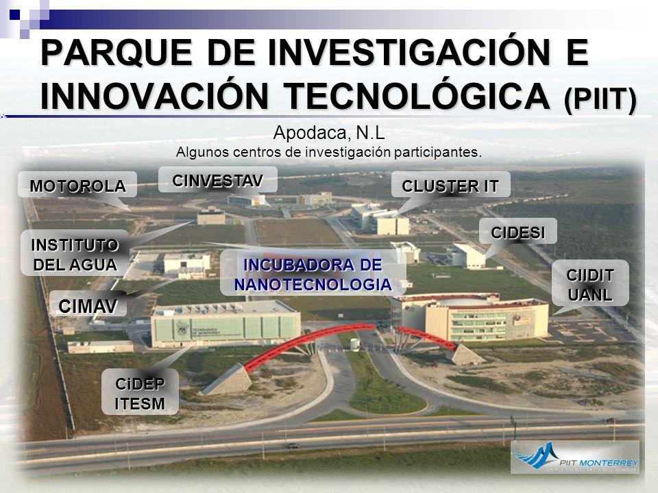 INCUBADORA DE NANOTECNOLOGIA Primera en América Latina.