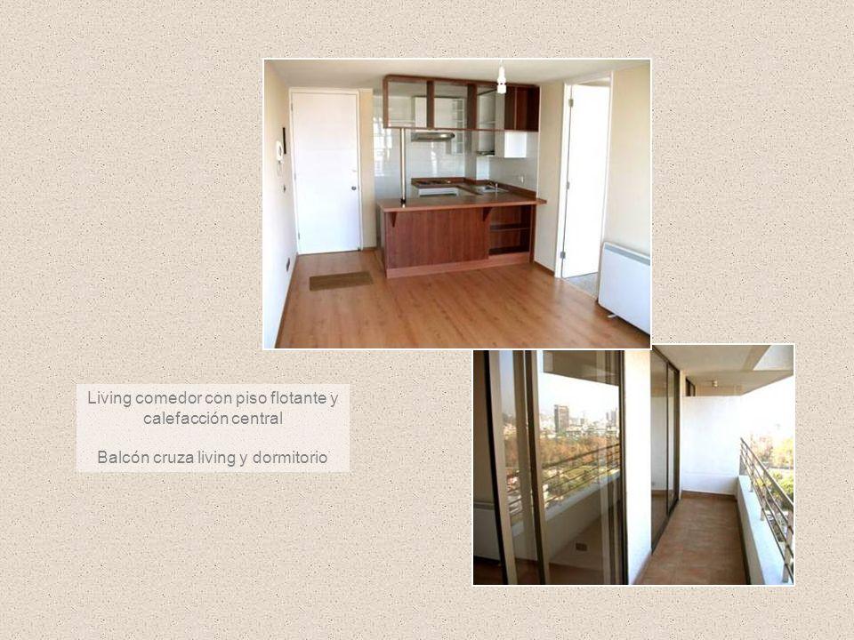 Living comedor con piso flotante y calefacción central Balcón cruza living y dormitorio