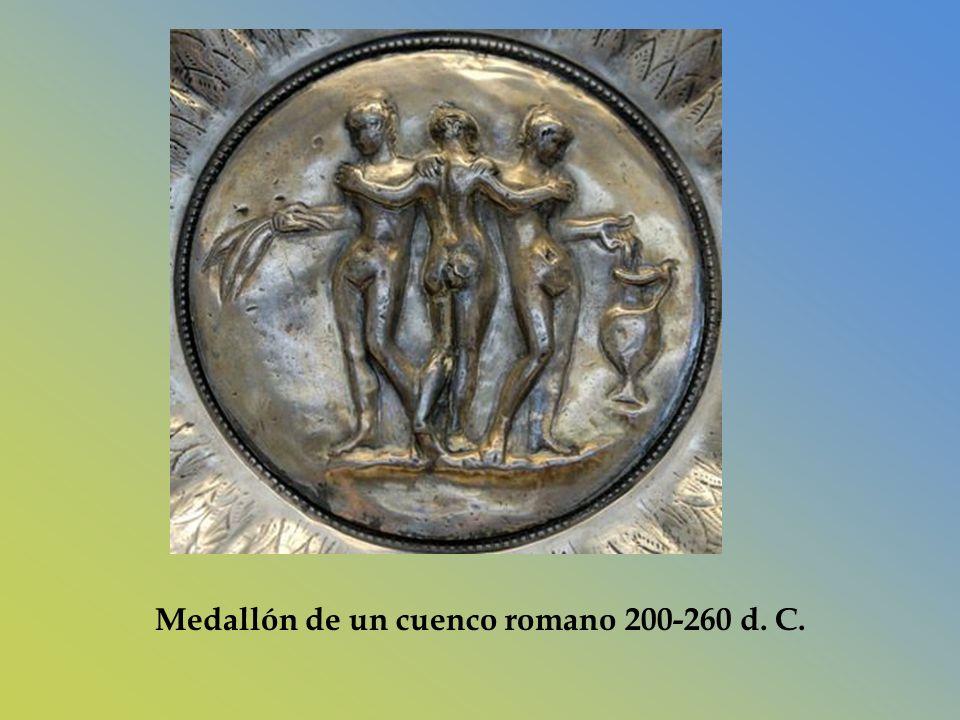 Medallón de un cuenco romano 200-260 d. C.