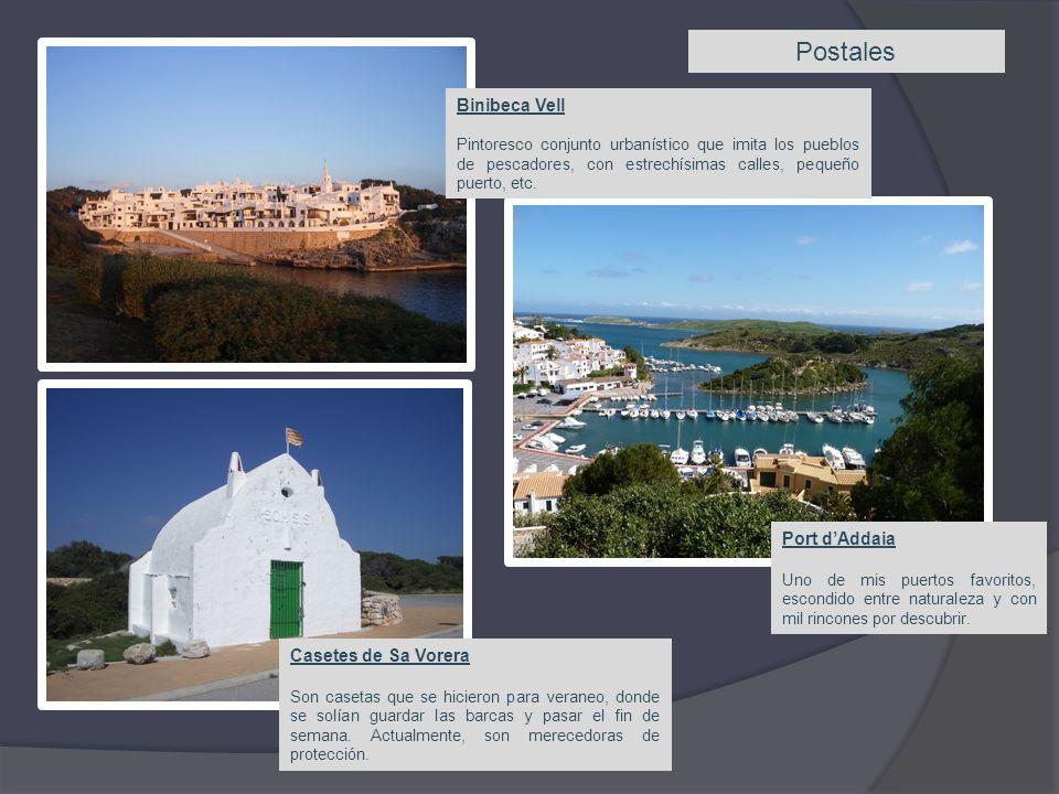 Postales Binibeca Vell Pintoresco conjunto urbanístico que imita los pueblos de pescadores, con estrechísimas calles, pequeño puerto, etc.