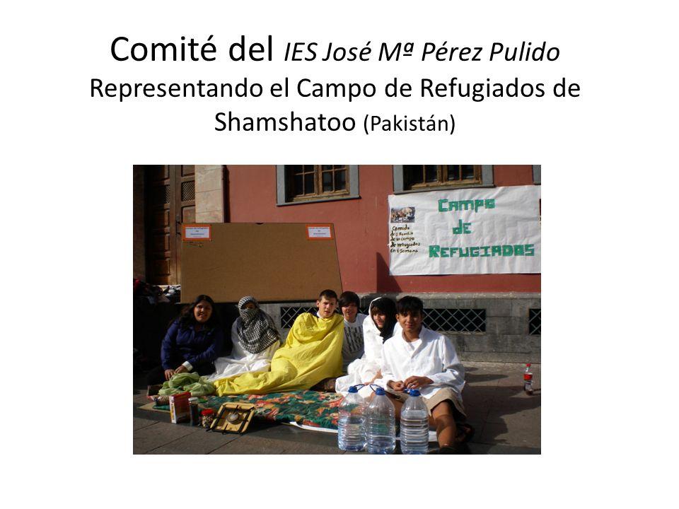 Comité del IES José Mª Pérez Pulido Representando el Campo de Refugiados de Shamshatoo (Pakistán)