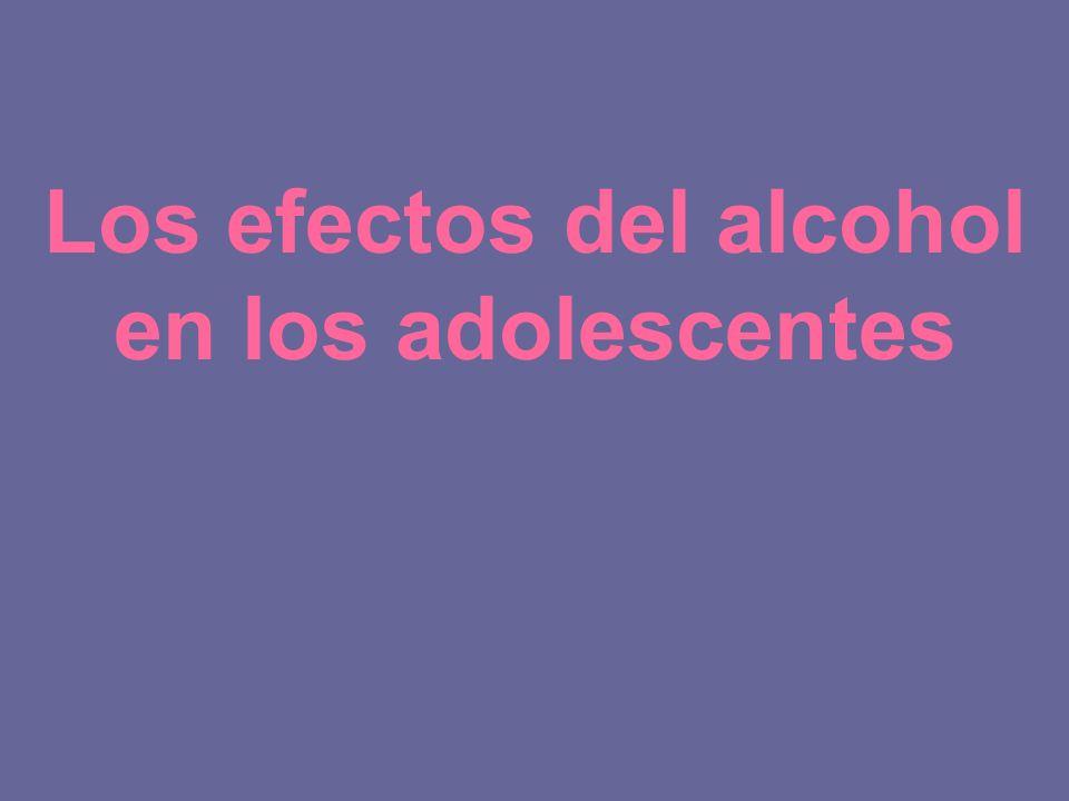 Los efectos del alcohol en los adolescentes