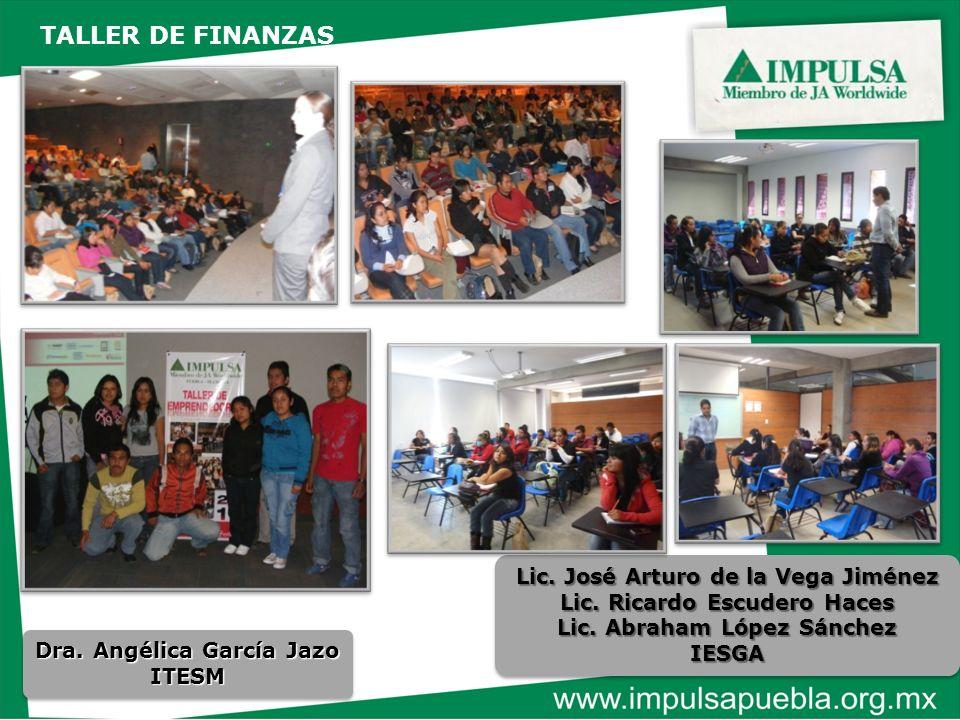 Dra. Angélica García Jazo ITESM ITESM Lic. José Arturo de la Vega Jiménez Lic. Ricardo Escudero Haces Lic. Abraham López Sánchez IESGA Lic. José Artur