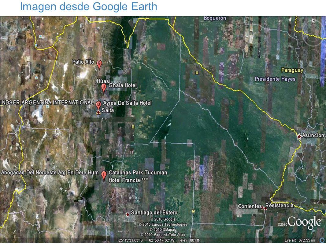 Imagen desde Google Earth
