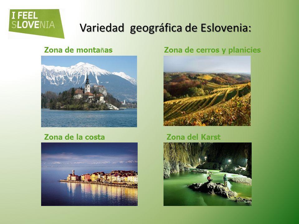 E SLOVENIA E N G ENERAL Clima: alpino, continental, mediterráneo. Temperaturas promedio: julio 21°C, enero 0°C Pico más alto: Triglav (2.864 m) - Parq