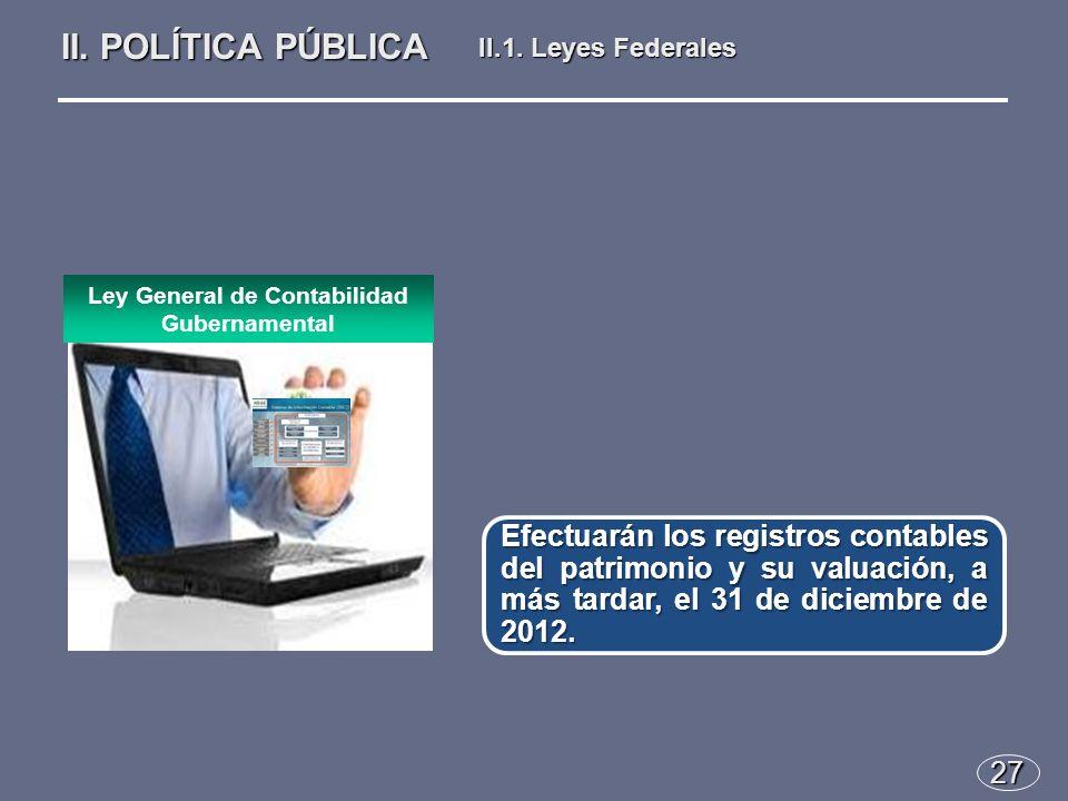 27 Efectuarán los registros contables del patrimonio y su valuación, a más tardar, el 31 de diciembre de 2012.