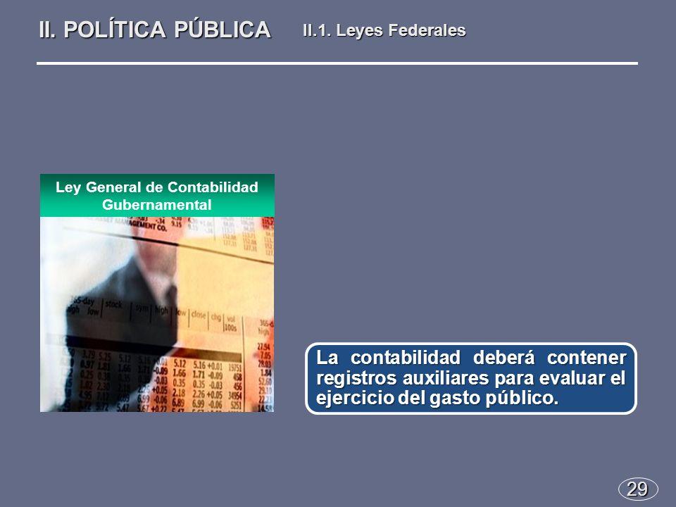 29 La contabilidad deberá contener registros auxiliares para evaluar el ejercicio del gasto público.