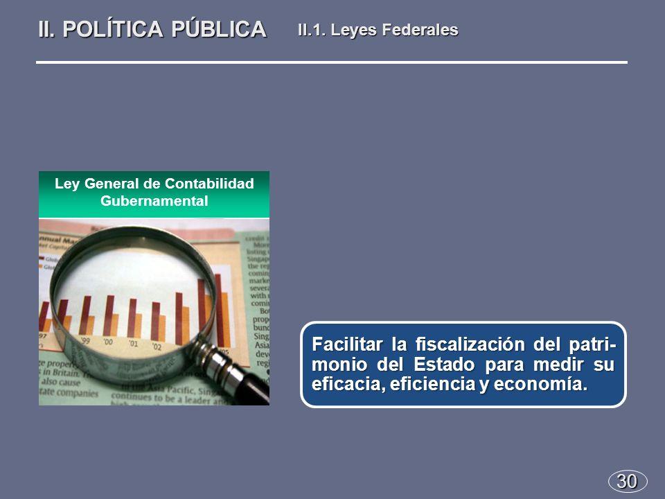 30 Facilitar la fiscalización del patri- monio del Estado para medir su eficacia, eficiencia y economía.
