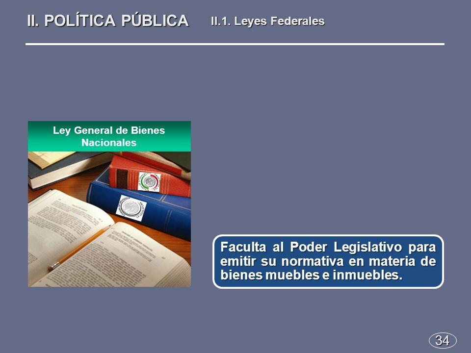 34 Faculta al Poder Legislativo para emitir su normativa en materia de bienes muebles e inmuebles.