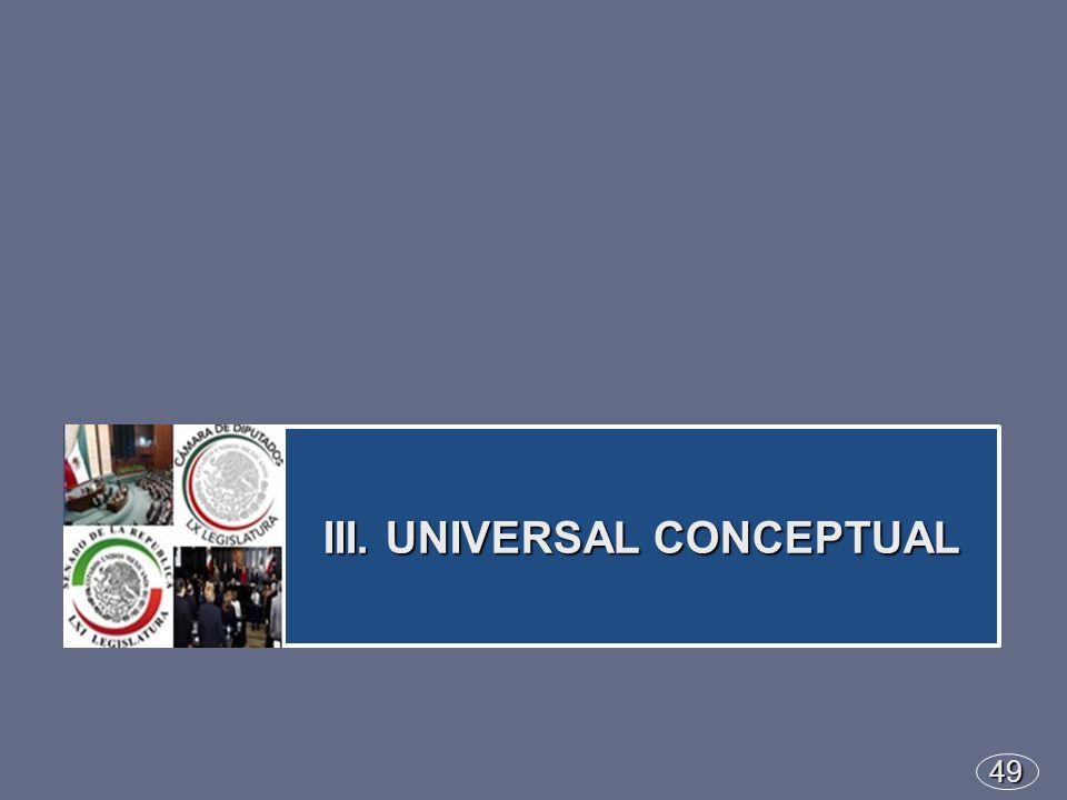 49 III. UNIVERSAL CONCEPTUAL