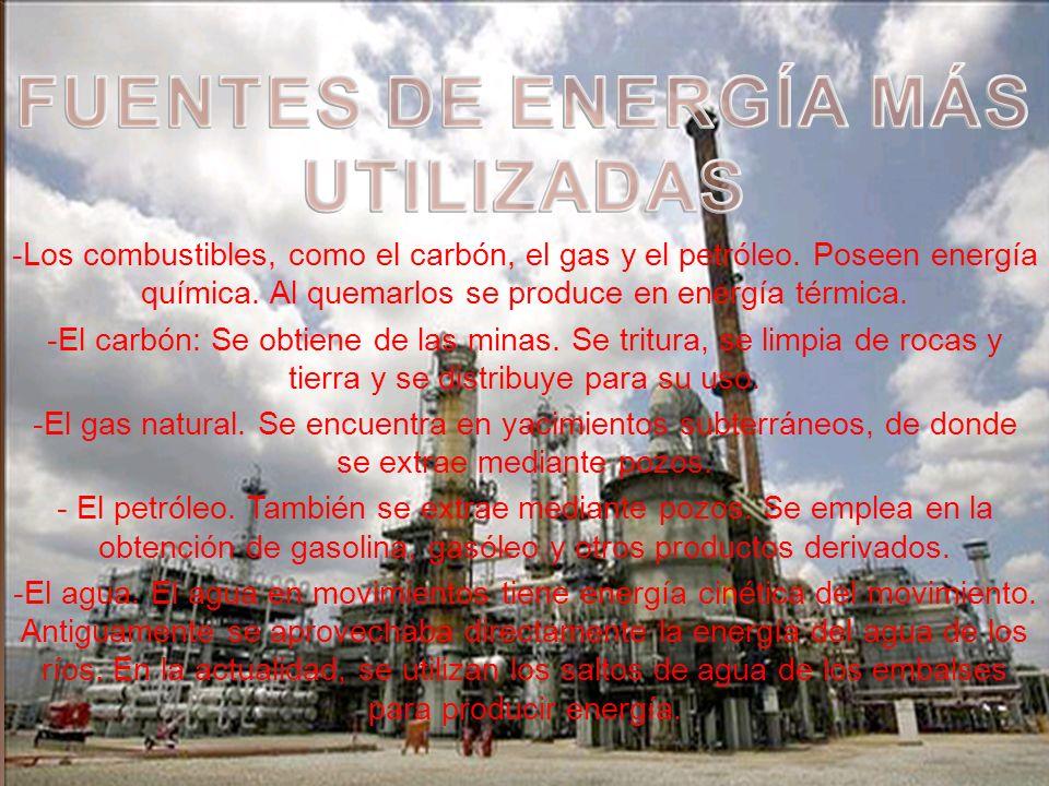 La electricidad es una forma fácil de energía muy útil: Se transporta en otros tipos de energía, como en energía térmica en un calefactor, o en energí