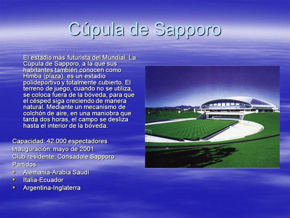 Cúpula de Sapporo El estadio más futurista del Mundial. La Cúpula de Sapporo, a la que sus habitantes también conocen como Himba (plaza). es un estadi