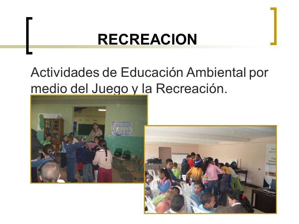 RECREACION Actividades de Educación Ambiental por medio del Juego y la Recreación.