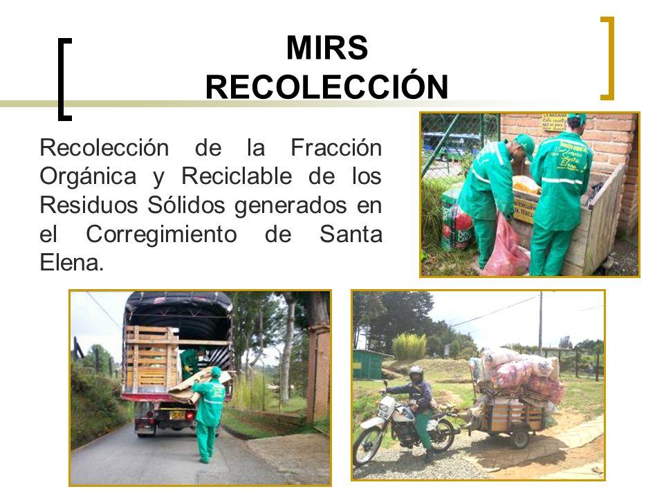 MIRS RECOLECCIÓN Recolección de la Fracción Orgánica y Reciclable de los Residuos Sólidos generados en el Corregimiento de Santa Elena.