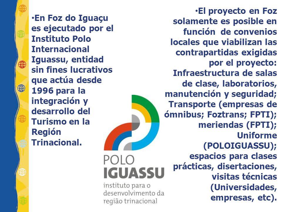En Foz do Iguaçu es ejecutado por el Instituto Polo Internacional Iguassu, entidad sin fines lucrativos que actúa desde 1996 para la integración y des