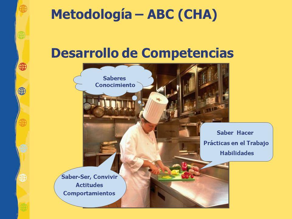 Saber-Ser, Convivir Actitudes Comportamientos Saber Hacer Prácticas en el Trabajo Habilidades Saberes Conocimiento Desarrollo de Competencias Metodolo